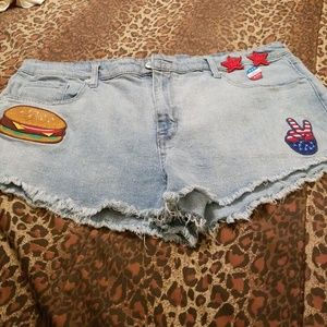 Most emo high rise hot pant blue Jean shorts